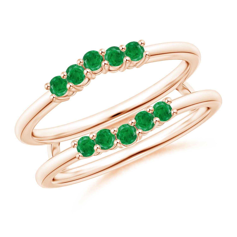 Emerald Contour Ring Wrap