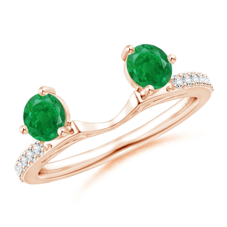 Diamond Ring Enhancer with Emeralds