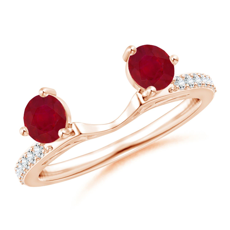 Diamond Ring Enhancer with Rubies