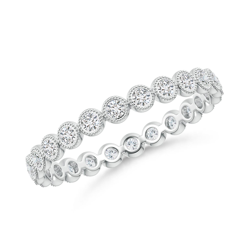 3a5b0244fdcc93 Milgrain Bezel-Set Diamond Eternity Wedding Band | Angara