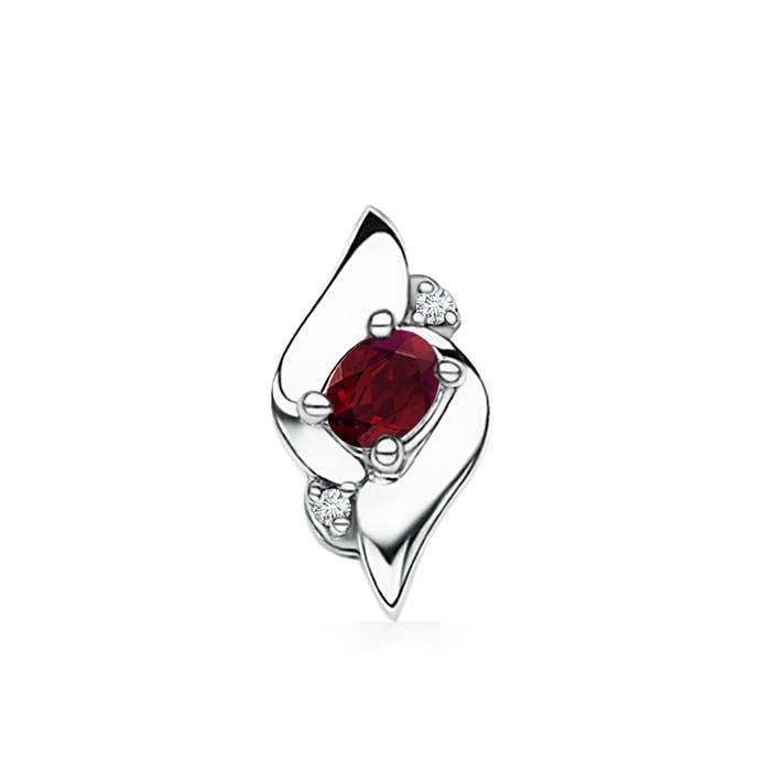Free Silver Shell Garnet Diamond Pendant - Angara.com