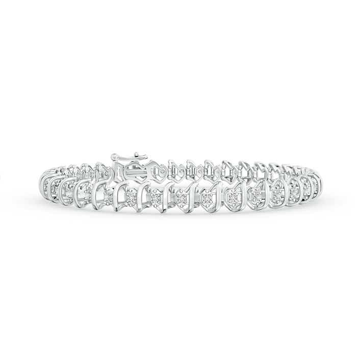 Angara Diamond Wave Bracelet in Yellow Gold