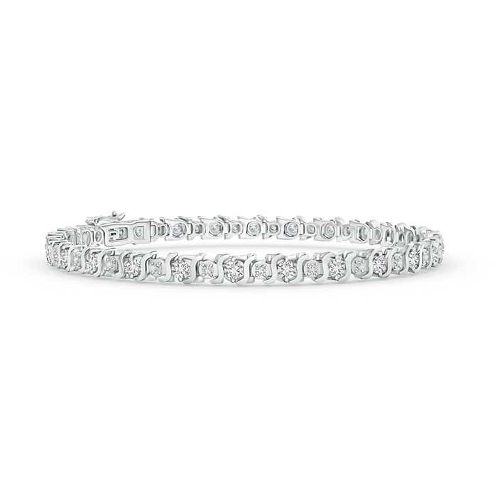 S Curl Diamond Tennis Bracelet - Angara.com