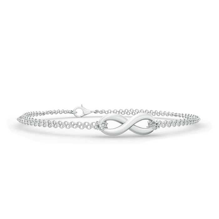 Infinity Knot Bracelet with Chain - Angara.com