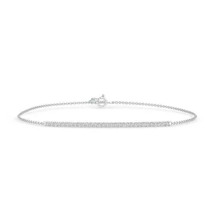 Prong Set Studded Diamond Bar Bracelet - Angara.com