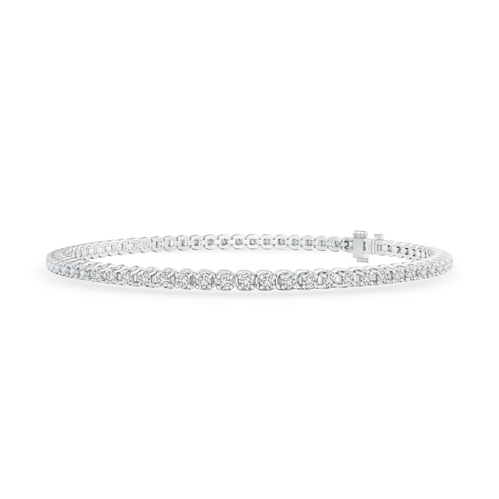 Four Prong Set Eternity Diamond Tennis Bracelet - Angara.com