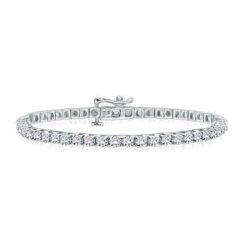 Classic Diamond Tennis Bracelet in 14k White Gold - Angara.com