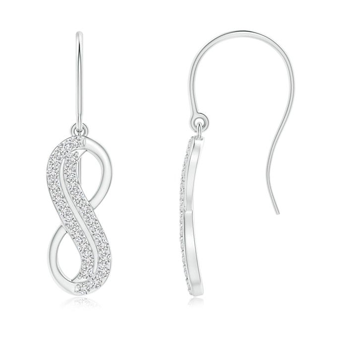 Angara Gypsy Set Diamond Infinity Dangle Earrings in White Gold Whb3C2srX