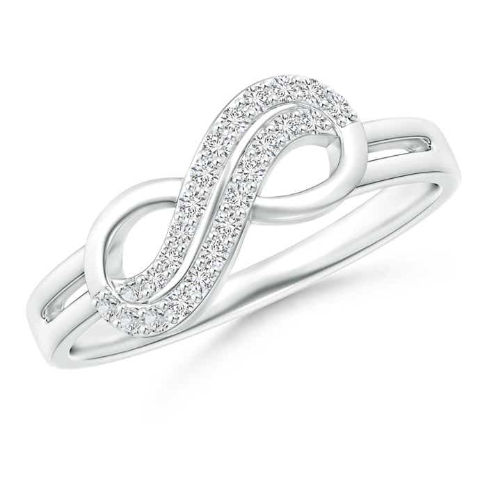 Twin-Row Diamond Infinity Swirl Ring - Angara.com