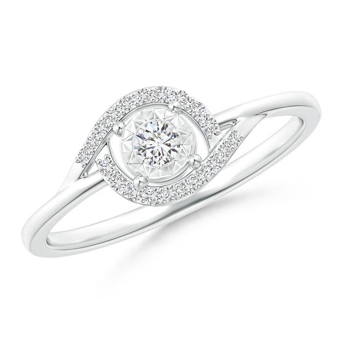 Miracle Solitaire Diamond Bypass Ring - Angara.com
