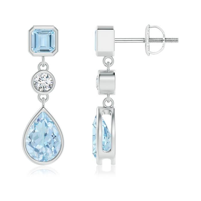 Angara Natural Aquamarine Earrings in Platinum IM2bmo