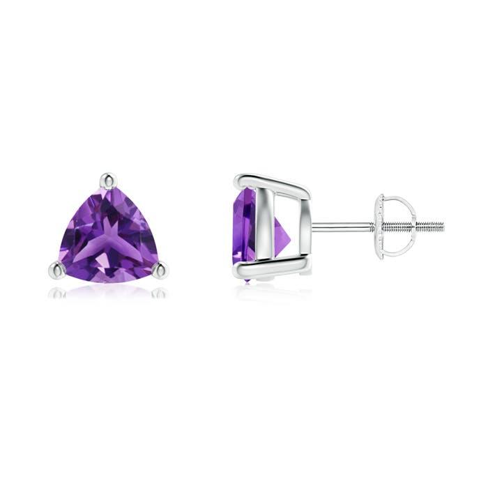 Angara Basket-Set Amethyst Stud Earrings in Rose Gold vh69xtu