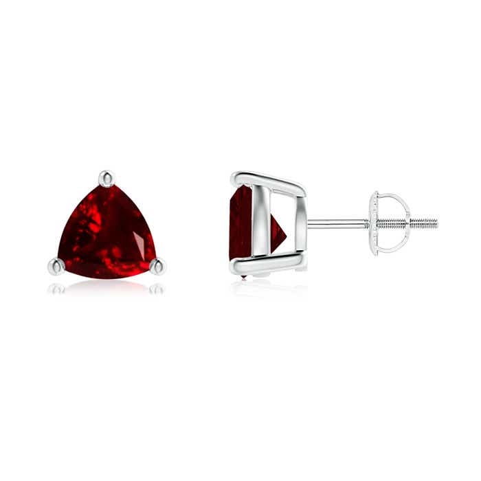 Angara Basket-Set Trillion Garnet Stud Earrings I5Ca5SBZj