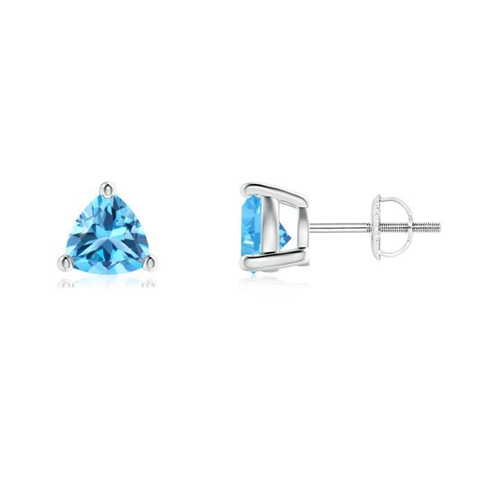 Angara Basket-Set Trillion London Blue Topaz Stud Earrings fsfHhlYp0W