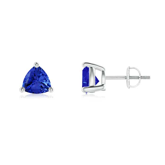 Angara Classic Claw-Set Pear Tanzanite Solitaire Stud Earrings in White Gold 3zK6Z4FV