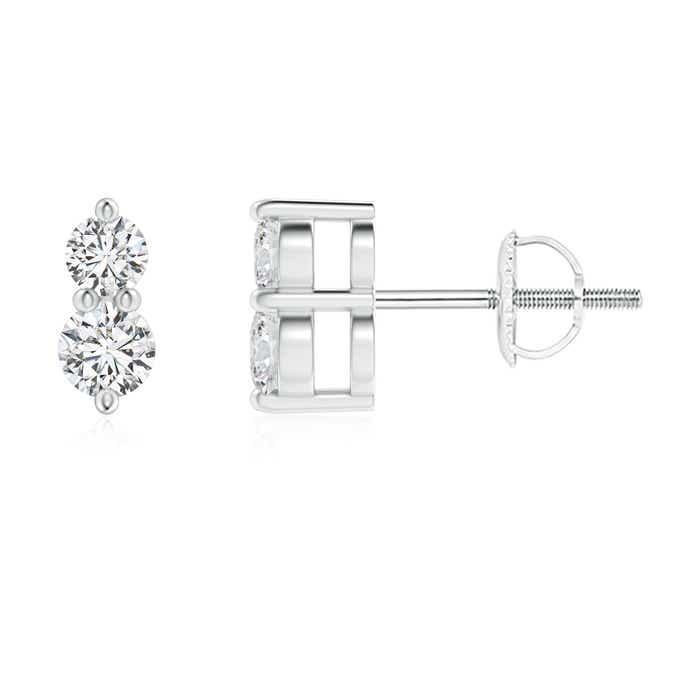 ccc0c19442896 Classic Two Stone Diamond Earrings