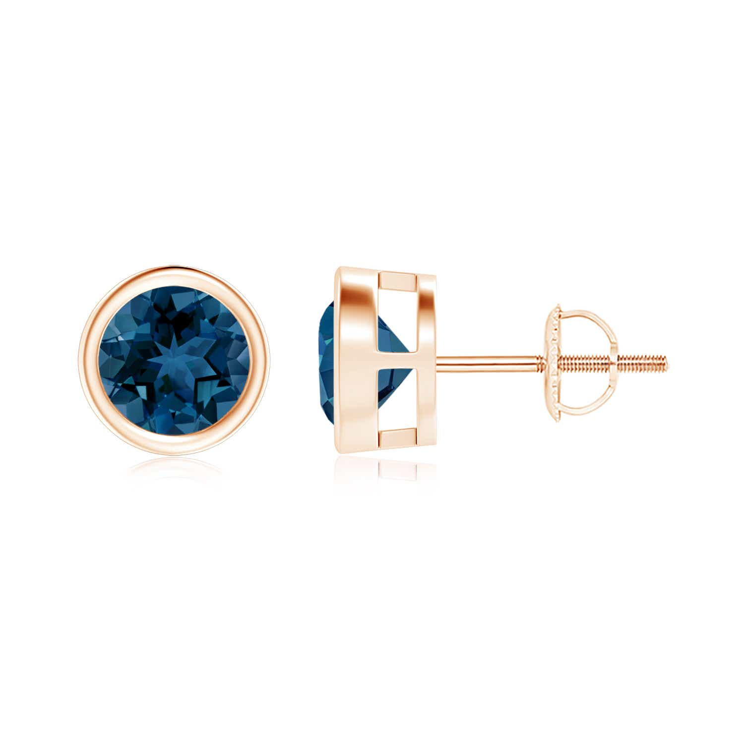 Angara Sapphire Vintage Stud Earrings in White Gold