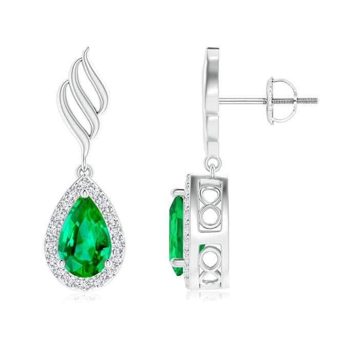 4eb35d5afb9dc Emerald Earrings Buying Guide | Angara