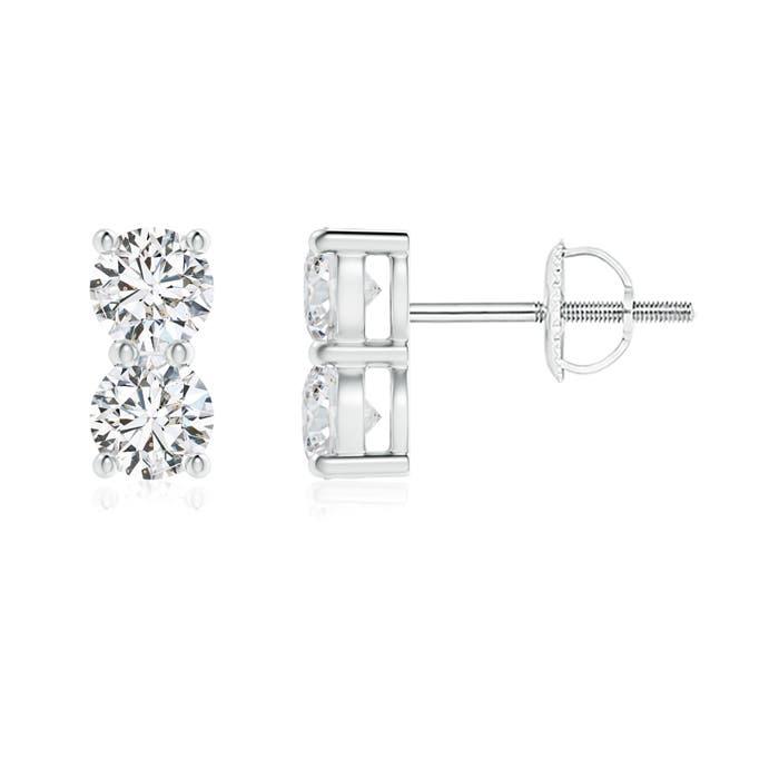 This Item Basket Set Double Diamond Stud Earrings 1 579