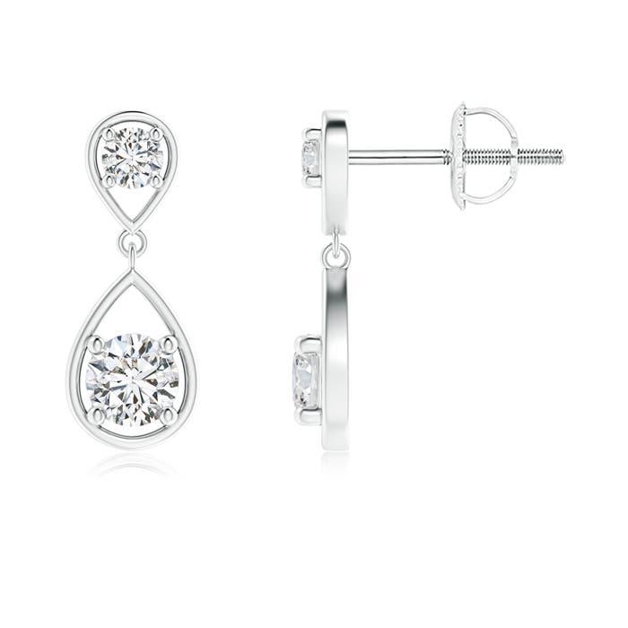 Angara Two Stone Diamond Teardrop Stud Earrings dxMl32cawX