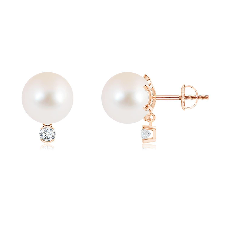 9mm-Freshwater-Cultured-Pearl-Diamond-Stud-Earrings-14K-White-Gold-Silver