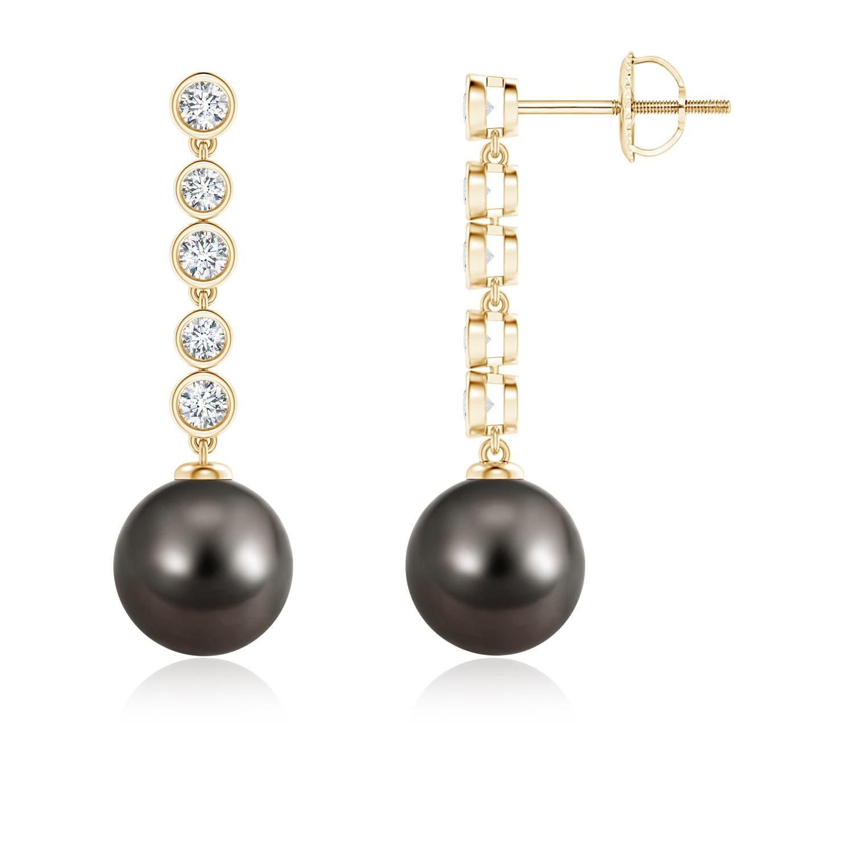 Angara Tahitian Cultured Pearl Drop Earrings with Metal Loop j0AT8ZE