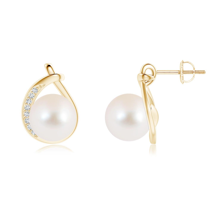 9mm-Freshwater-Cultured-Pearl-Diamond-Stud-Earrings-14K-Gold-Silver