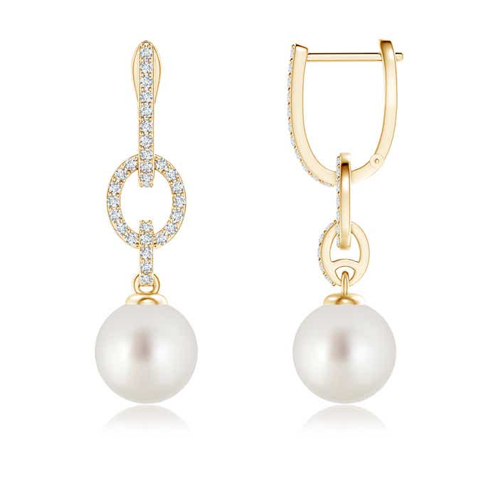Angara South Sea Cultured Pearl and Diamond Hinged Clip Earrings vwiMdS8y6