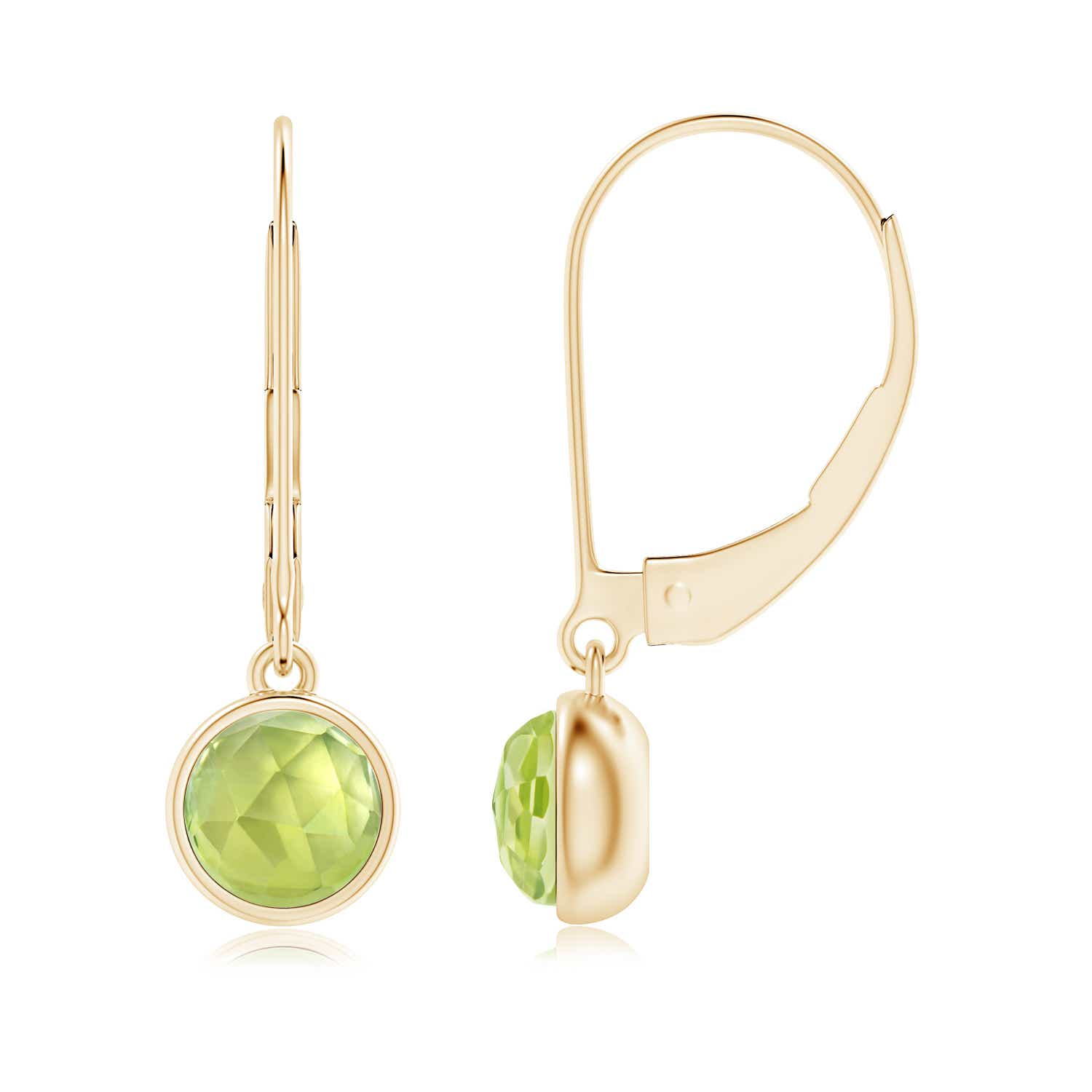 Angara Solitaire Peridot Earrings in White Gold zXIz774xCq
