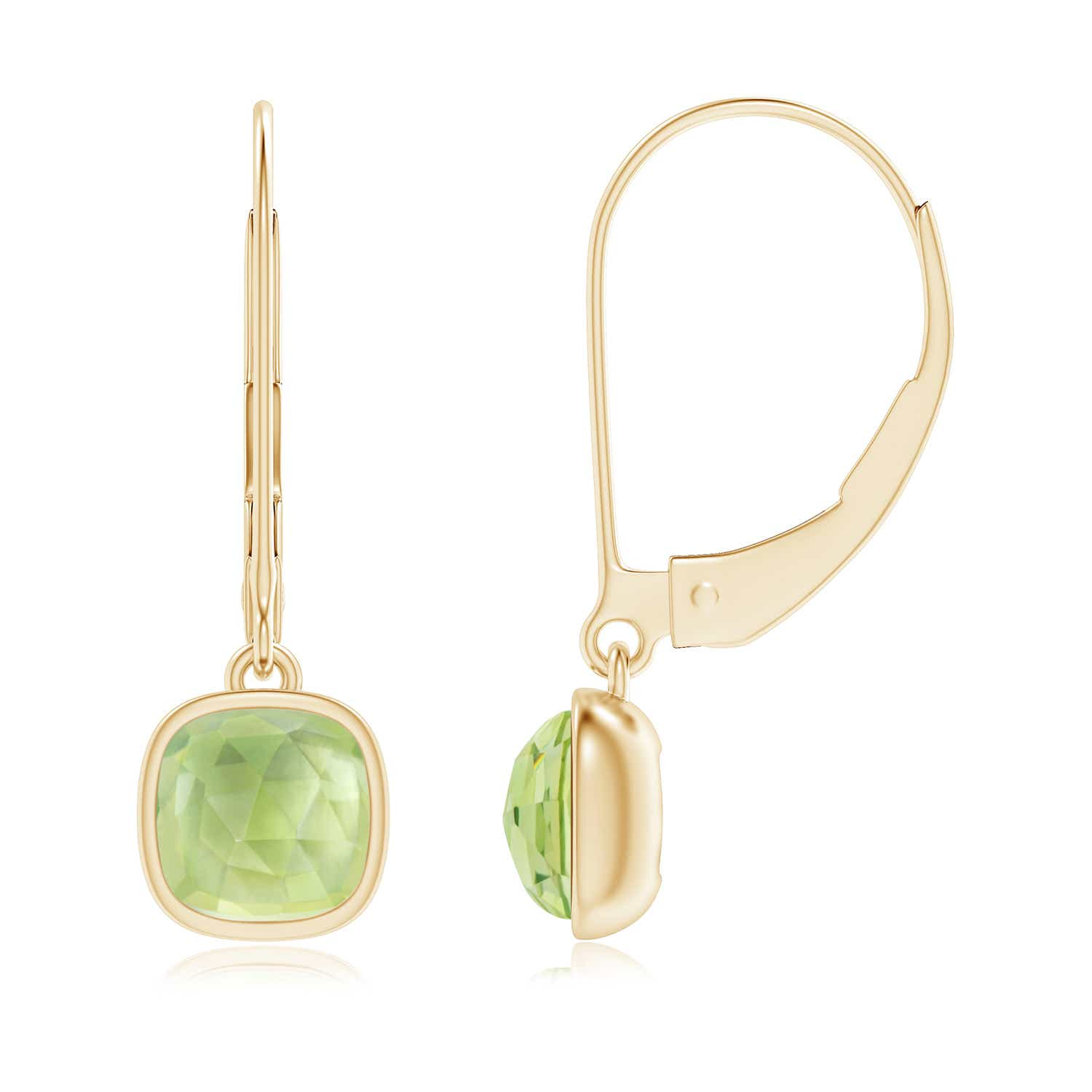 Angara Solitaire Peridot Earrings in White Gold XzC2cosC