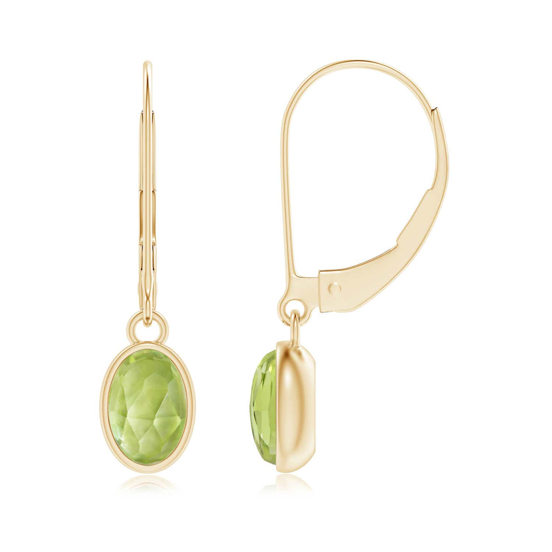 Angara Bezel-Set Oval Opal Solitaire Drop Earrings SX5paaDbWh