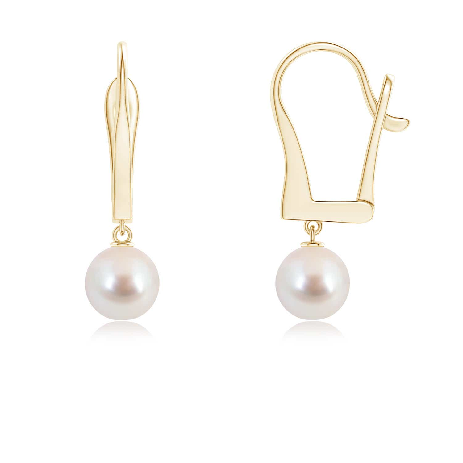 Angara Solitaire South Sea Cultured Pearl Leverback Dangle Earrings mY0iJZcW