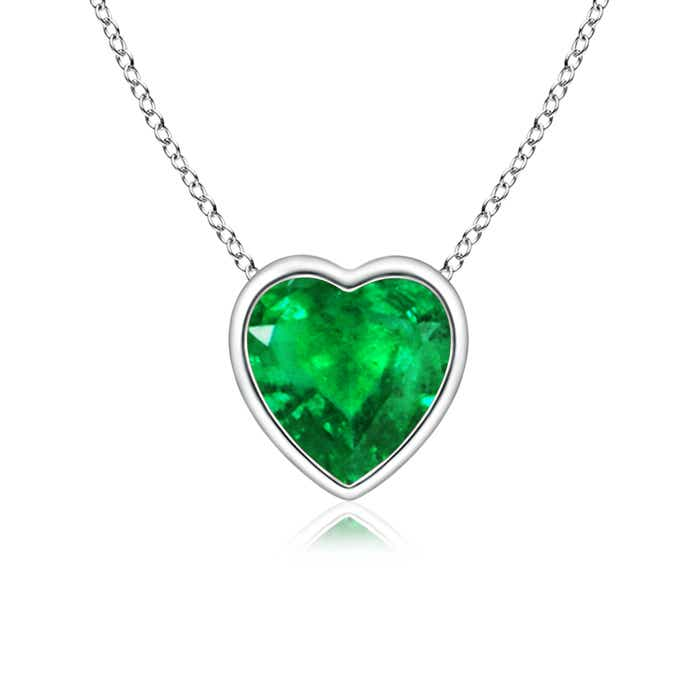 earrings emerald hajibay co view heart shaped shape