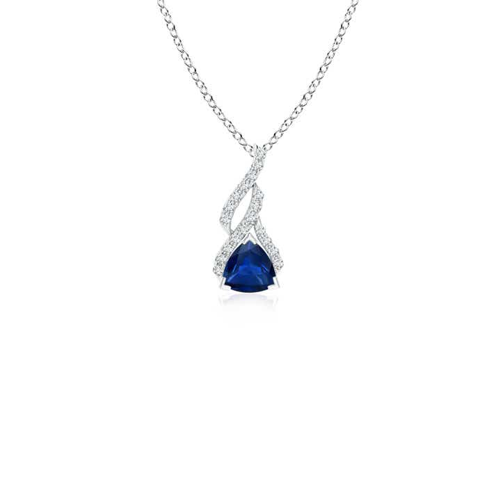 Angara Sapphire Diamond Solitaire Pendant in Platinum XOQw8m