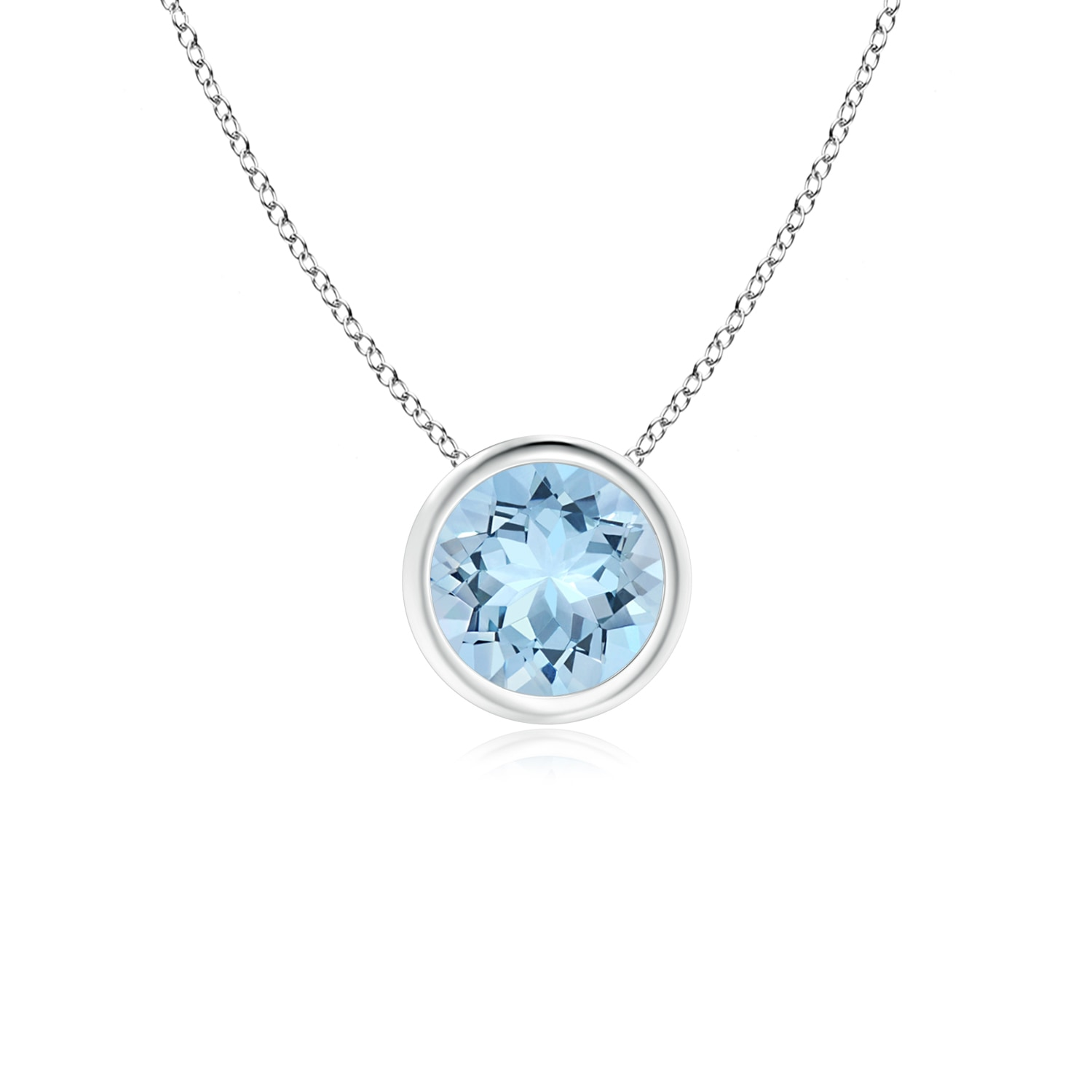 mv en silver accents diamond marine kaystore pendant sterling zm aquamarine necklace kay aqua
