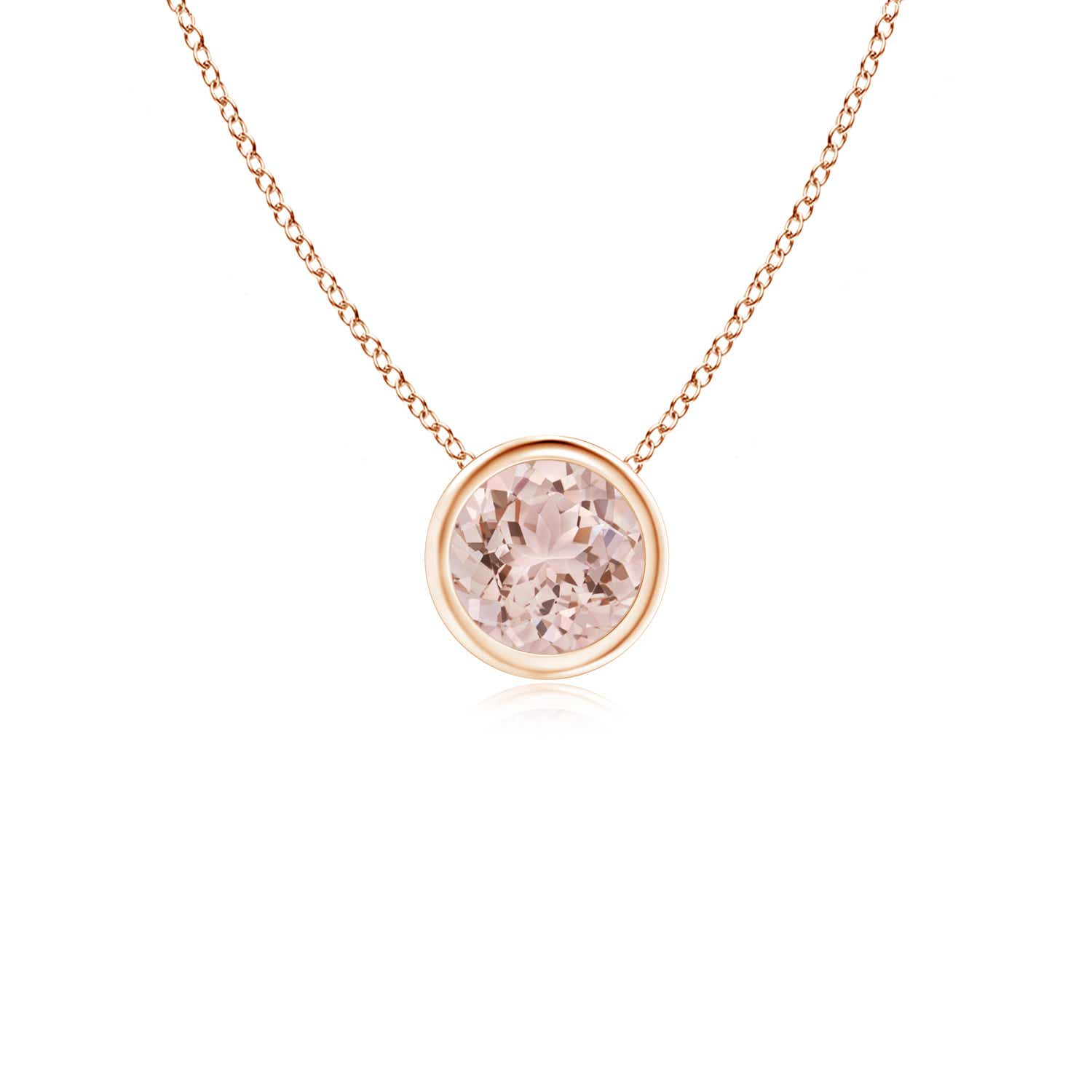 Angara Solitaire Garnet Necklace for Women in Platinum rJknIdvoA