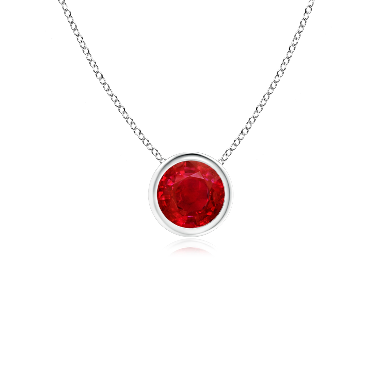 Angara Three Stone Ruby Journey Pendant - July Birthstone Pendant fCRXaTBJwk