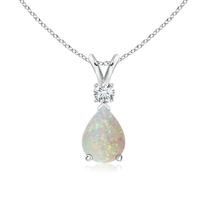 Angara Natural Opal Teardrop Pendant in Platinum suJmRix