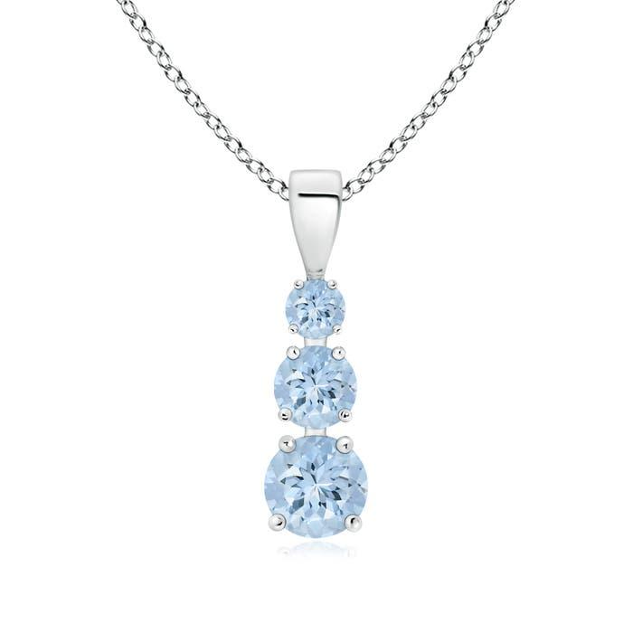 Angara Journey Pendant with Aquamarine in Platinum 5eep4k
