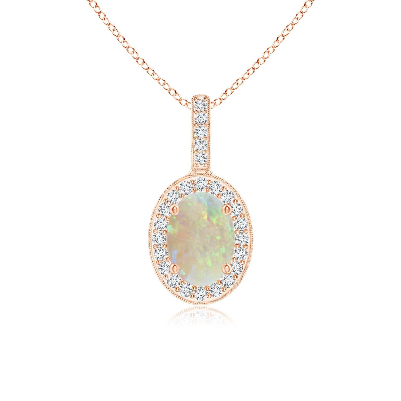 Angara Two Stone White Opal Pendant in Yellow Gold GFhs5x