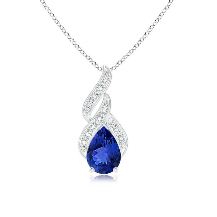 Angara Solitaire Natural Tanzanite Necklace in Rose Gold PjdvcvY