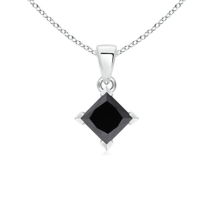 Angara V Prong-Set Princess Enhanced Black Diamond Pendant unScYND8hS