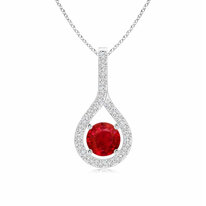 Angara Floating Ruby Drop Pendant with Diamond Accents j7LrcuR2fr