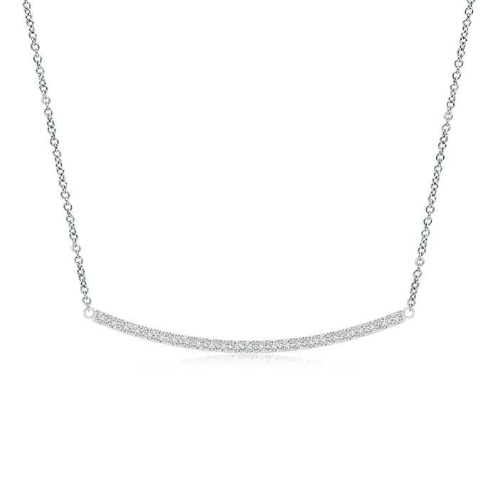 Angara Diamond Studded Vertical Bar Y Necklace 6BLuZTRr