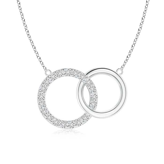 Angara Eternity Round Diamond Circle Infinity Necklace in Two Tone lYHLAFG6