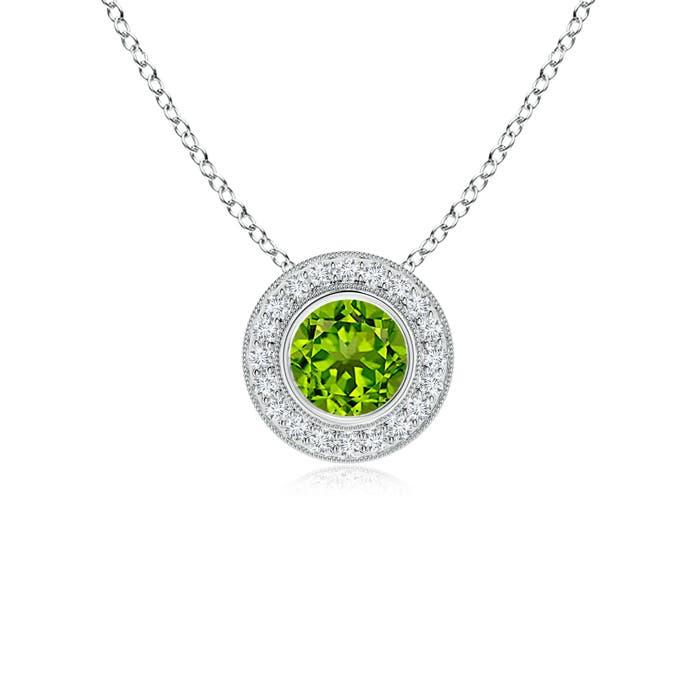 Angara Natural Emerald Bezel-Set Necklace in Platinum rwdgPKAQiK