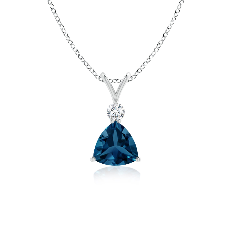 Angara London Blue Topaz and Diamond Pendant in Yellow Gold YSp9uF3Z