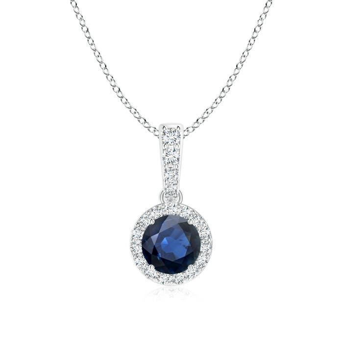 Angara Natural Sapphire Pendant in Platinum 0IjCI