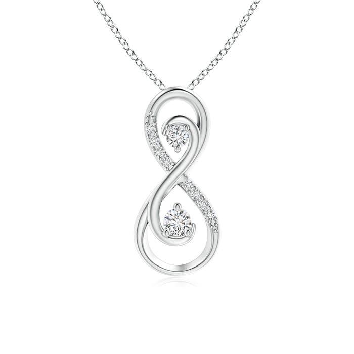 Angara Twisted Two Stone Diamond Ribbon Pendant bTpuc0