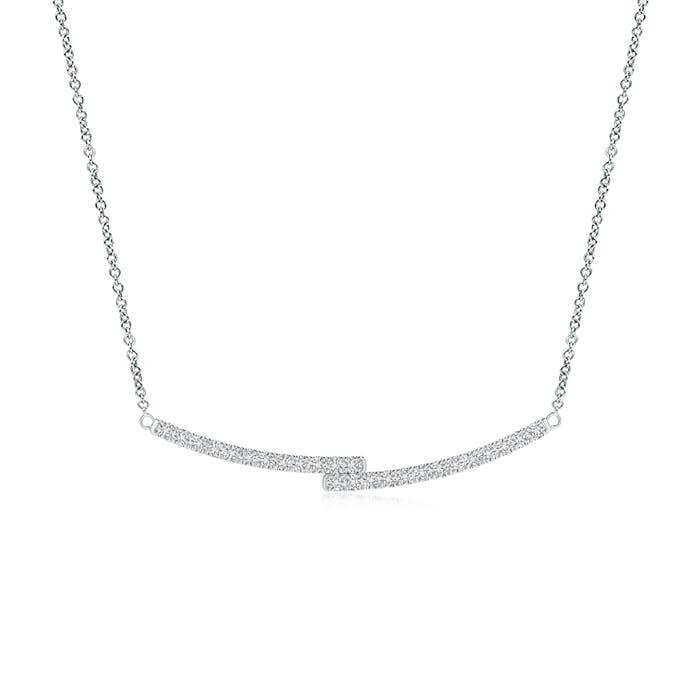 Angara Contemporary Diamond Bar Necklace Nx2xPrhp